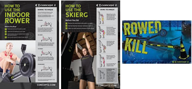 CrossFit Rowed Kill and how To Row Posters