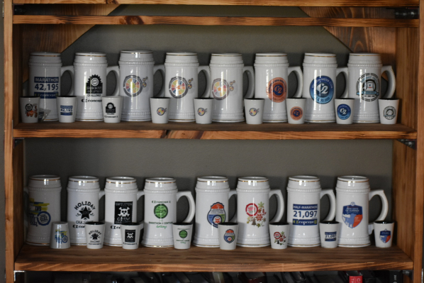 James Hanson's Concept2 Challenge mug collection