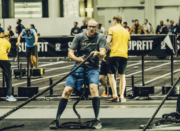 Martin Stridde of Concept2 Germany participates in his first HYROX competition.