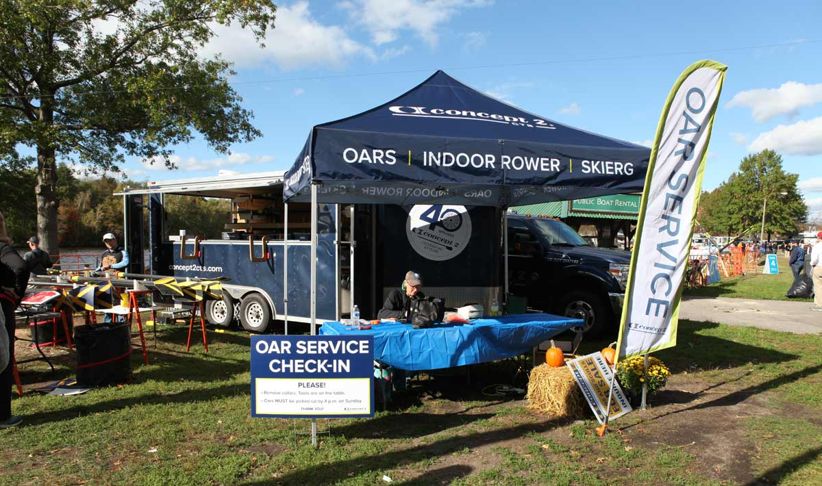 Concept2 Regatta Services provide free Concept2 Oar repair at regattas.